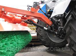 Щетка навесная для тракторов МТЗ, ЮМЗ, Т-40 и т.д.(привод от ВОМа)