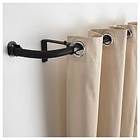 IKEA HUGAD Комбинация карнизов / эркерных окон, черный  (599.292.19)