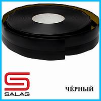 Плинтус ПВХ самоклеящийся, 20 мм х 30 мм, Чёрный