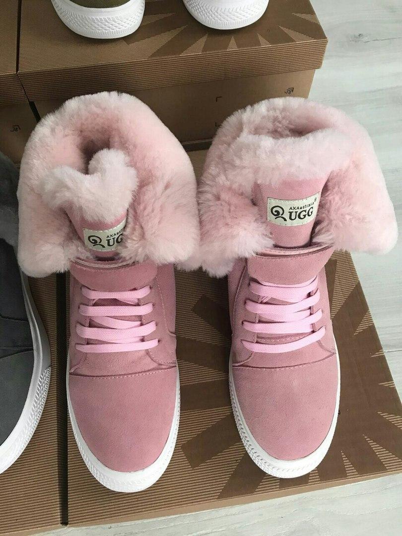 Сникерсы замшевые брендовые UGG премиум-качество розовые высокие размер 37- 40 - Козырный Шуз 0ca17540f66