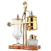 Бельгийская Бельгия Роскошный королевский семейный баланс Siphon Siphon Coffee Чай Pot Maker Golden