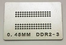 Трафарет BGA DDR2-3, шар 0,45 мм