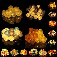 Батарейки 30LEDs пастельных ватные тампон гирлянды для украшения праздника