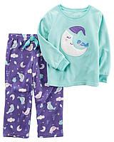 """Пижама флисовая для девочки 2в1 Carter's """"На луне"""" р.3Т,4Т"""