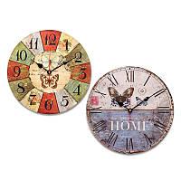 Большие деревянные настенные часы Узоры бабочка Сельский Потертый Chic Для домашнего офиса Кафе Decor Art