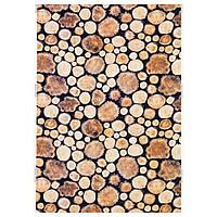 IKEA MARGARETA Ткань, деревянный брус, белый / коричневый  (802.408.07)