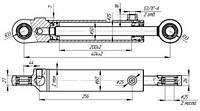 Гидроцилиндр рулевой МТЗ (без пальцев) Ц50-3405215-А-01 (50х25х200.405) (подключение под углом 90*)