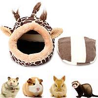 Маленький домик для домашних животных Домашние животные Питомники Тент-кровать Мягкая подставка для домашних животных для мелких животны