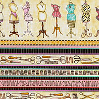 Ткани для печворка, коллекция Mrs. Sew & Sew, RJRFabric, Dan Morris. Артикул: 0422-01. За 10 пог. см. - 18грн. Ширина 110 см.