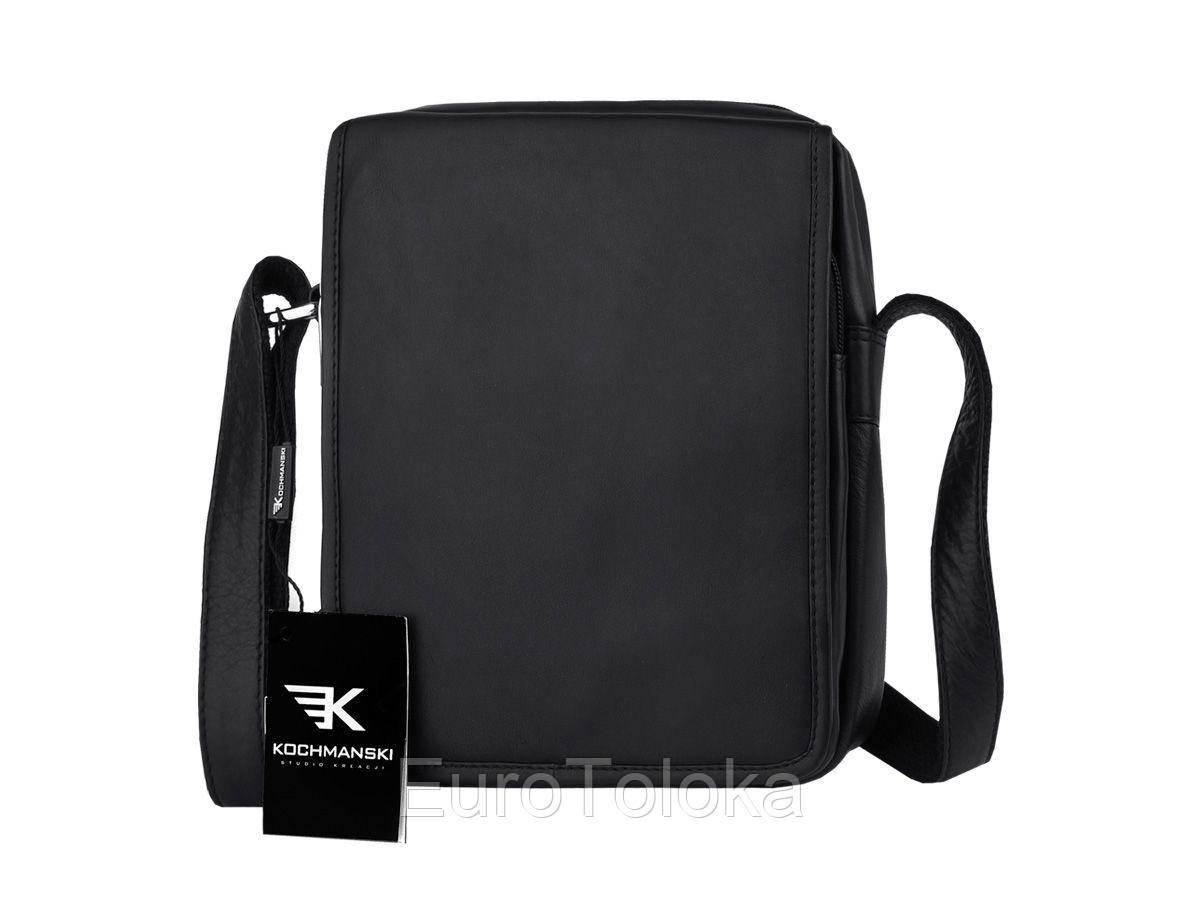 d87a91518e5c Мужская кожаная черная сумка барсетка Kochmanski Studio DF7 Польша -  EuroToloka в Волынской области