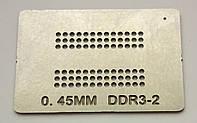 Трафарет BGA DDR3-2, шар 0,45 мм