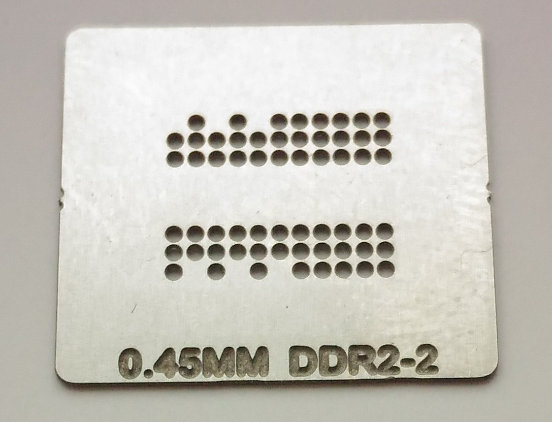 Трафарет BGA DDR2-2, шар 0,45 мм