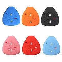 3 кнопки силикона Fob кожи ключа автомобиля Обложка куртка для Toyota Scion Tc