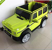 Детский электромобиль Mercedes G65 VIP M 3567EBLR-5 Ева колеса+ кожа - зеленая