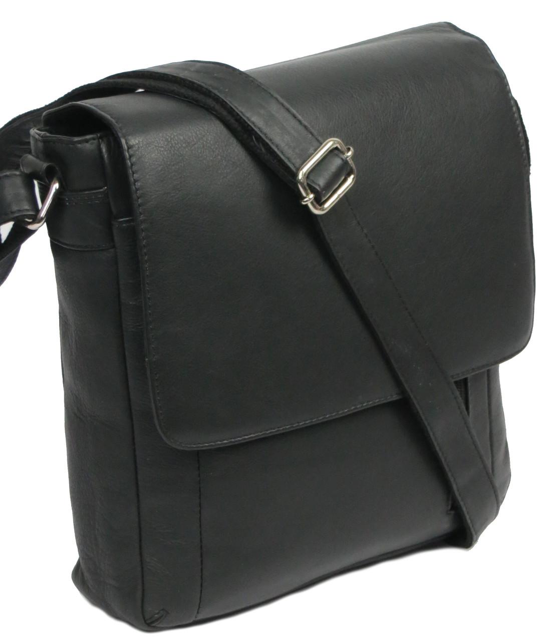 Вертикальная кожаная сумка Always Wild 787 SPN black