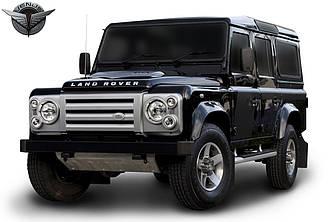 Решетка рамки на фары CVX тюнинг Land Rover Defender серые