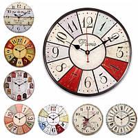 Красочный Большой деревянный настенные часы Vintage Сельские Потертый для украшения дома искусства
