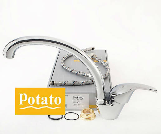 Смеситель для кухни POTATO P5907, фото 2