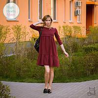 Платье с горизонтальным секретом для беременных и кормящих мам HIGH HEELS MOM (бордовый, размер М)