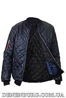 Куртка мужская экокожа NORTH RIVER D-32 тёмно-синяя, фото 1