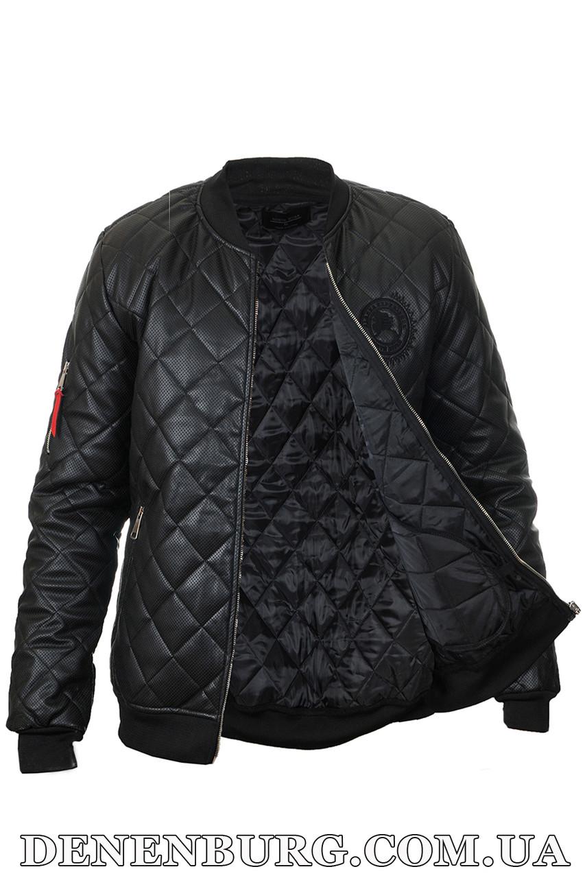 Куртка мужская экокожа NORTH RIVER D-32 чёрная 2942709899b24