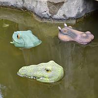 Honana HG-PD1 Садоводство Симуляция животных прудов Декор PVA Нетоксичная лягушка Крокодил Гиппо Декор