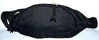 Сумка на пояс черная три кармана 30*13