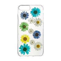 Чехол накладка силиконовый Natural Flowers для Xiaomi Redmi 4a Mix Color
