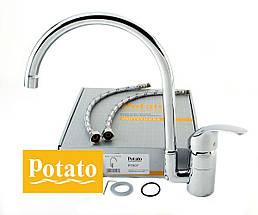 Смеситель для кухни POTATO P7007, фото 3