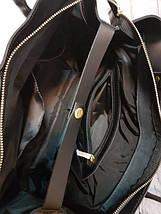 51 Натуральная кожа Сумка женская кожаная сумка черная Сумка из натуральной кожи черная Женская сумка черная, фото 3