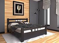 Кровать двуспальная деревянная Геракл из натурального Бука, фото 1
