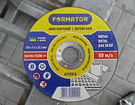 Диск отрезной по металлу O125х1.6х22.2 мм, Formator