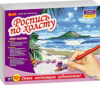 """4944 Розмальовка за номерами на полотні """"Тропічний рай"""" 15129032Р"""