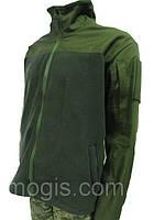 """Флисовая куртка с накладками на плечах и рукавах """"milt-3"""""""