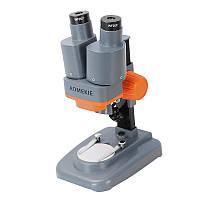 40X бинокулярный стерео микроскоп LED свет PCB припой Минеральное образцов Часы Студенты Дети Наука Образование Телефон Ремонт