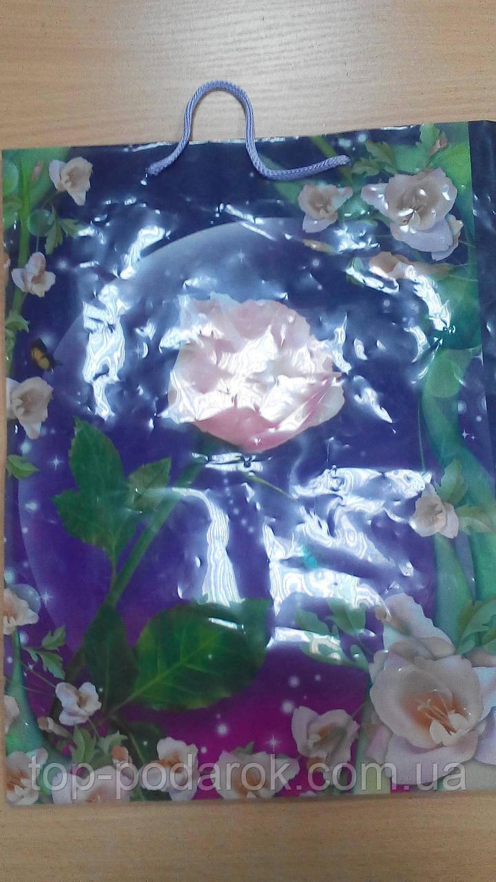Пакет подарочный бумажный размер 37*29*10