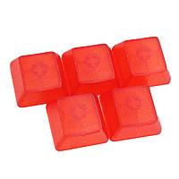 5 штук Прозрачный Keycap Очистить все Высота Красный Белый для Механический Клавиатура R1 R2 R3 R4