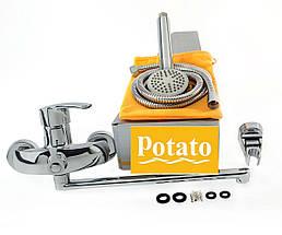Смеситель для ванны POTATO P2208B, фото 3