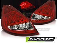 Задние фонари на Ford Fiesta 2008-2014 красно-белые