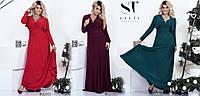 Платье большого размера, Ткань: масло  Длина платья -150 см Длина болеро -30 см асич№204-18