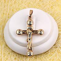 010-0755 - Позолочений кулон-хрест з розп'яттям