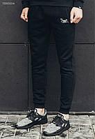 Мужские тёплые спортивные штаны (с начёсом) Staff - BLACK fleece Art. TSH0014 (XL, XXL) (чёрный)