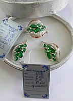 Гарнитур украшений из серебра с золотом