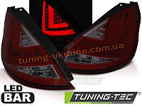 Задние фонари на Ford Fiesta 2008-2012 красно-тонированные