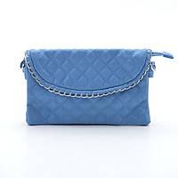 Стьобана синя сумочка з металевим краєм, фото 1