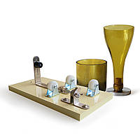 Пивная бутылка вина Банка Резательная машина Стеклянная скульптура Художественная резка DIY Переработка Инструмент