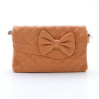 Стьобана помаранчева сумка з бантом, фото 1