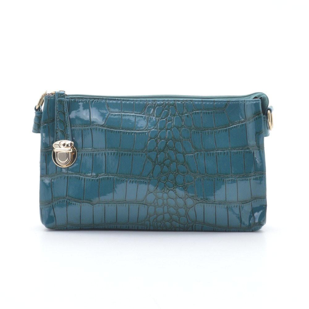 a1f03a86c724 Лакова Міні-сумочка на Блискавці З Ремінцем Темно-синя — в Категории