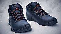 Мужские зимние кожаные ботинки Ecco Infinity black Живые фото