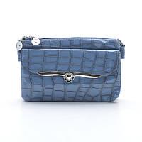 Мини синяя сумочка кросс-боди